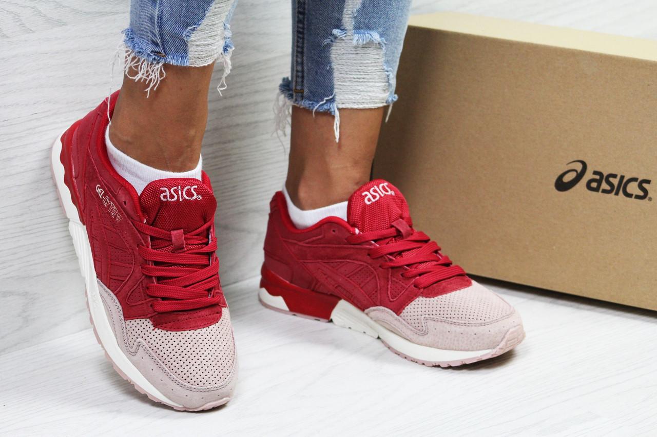 Женские кроссовки Asics Gel Lyte V асикс   розовые с красным   жіночі  кросівки асікс (Топ реплика ААА+) 5abaab088070d