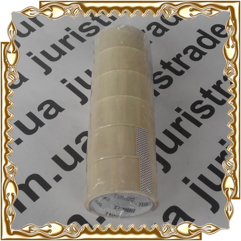 Скотч упаковочный прозрачный 48 мм. * 100 м. ( 6 шт./уп.) Юрис