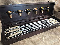 Набор шампуров с бронзовыми чарками Люкс Nb Art Щука 12 предметов 47330058
