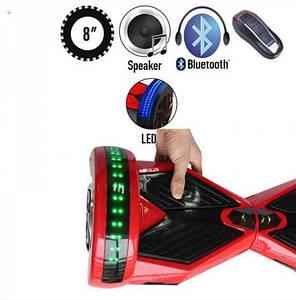 ГИРОСКУТЕР LAMBO LED MUSIC RED/BLACK (Led, Bluetooth, пульт, сумка) Classic, фото 2