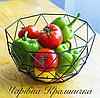 Металлическая ваза для фруктов Геометрия