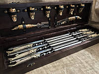 Набор шампуров с бронзовыми рюмками,нож,вилка Люкс Nb Art Щука 14 пред 47330059
