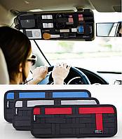 Автомобильный органайзер держатель на козырек косметичка в авто автомобиль