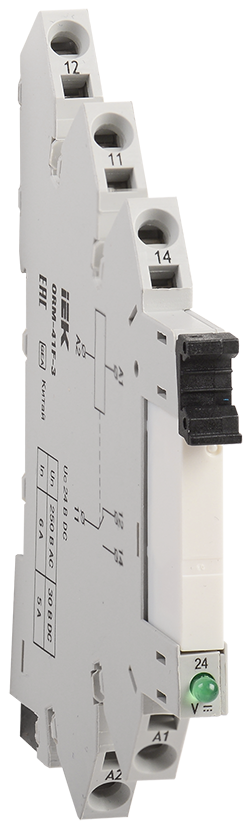 Интерфейсное реле ORM 3. 1NO+1NC. 24В DC