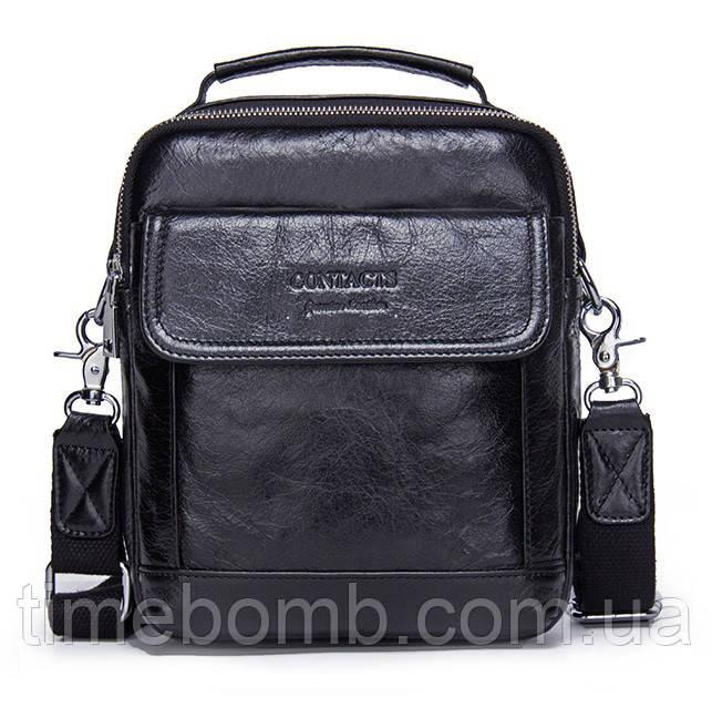 f536bf6221ea Мужская кожаная сумка барсетка Contacts черная: продажа, цена в ...
