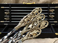 Набор шампуров с мангалом Люкс Nb Art 7 предметов 47330063