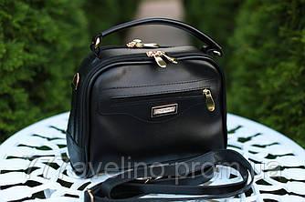 Маленькая женская сумка через плечо черная