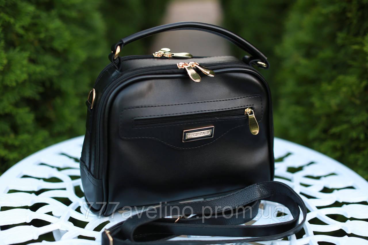fb36ec33140c Маленькая женская сумка через плечо черная - Интернет магазин Модный Стиль  в Харькове