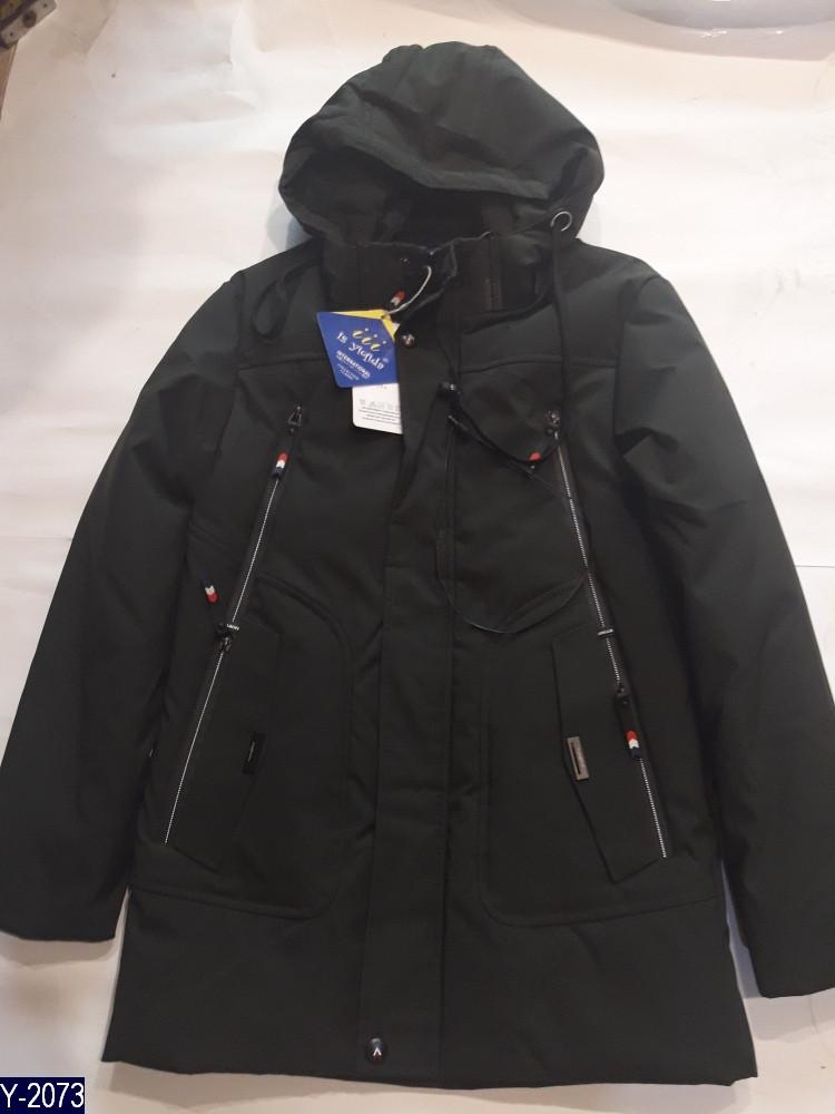 Куртка осень для мальчика Хаки 140, 146, 152, 158, 164 ткань полиэстер