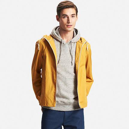 Куртка Uniqlo Men Cotton Zip-Up Hoodie YELLOW, фото 2