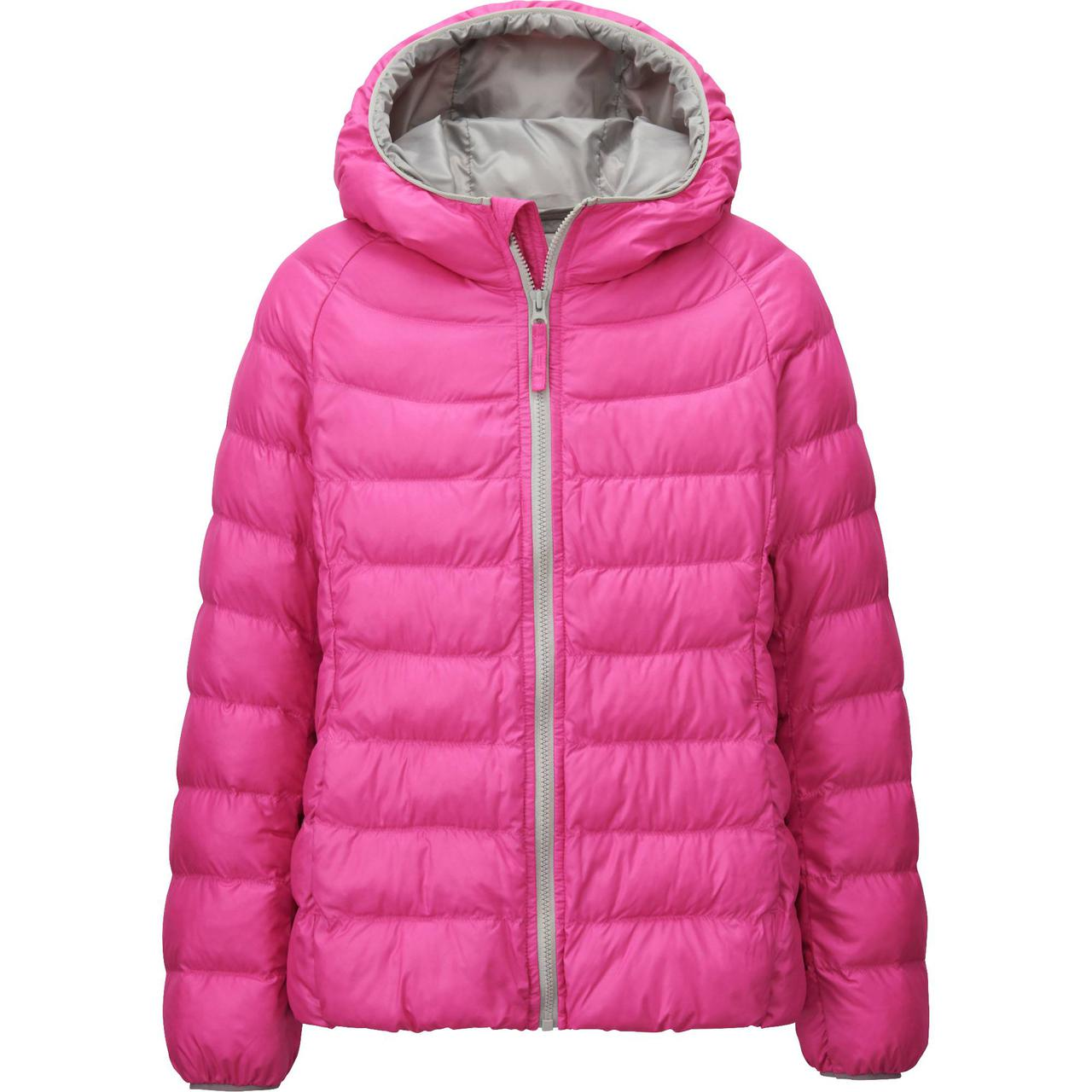 Куртка Uniqlo Girls Light Warm Padded PINK