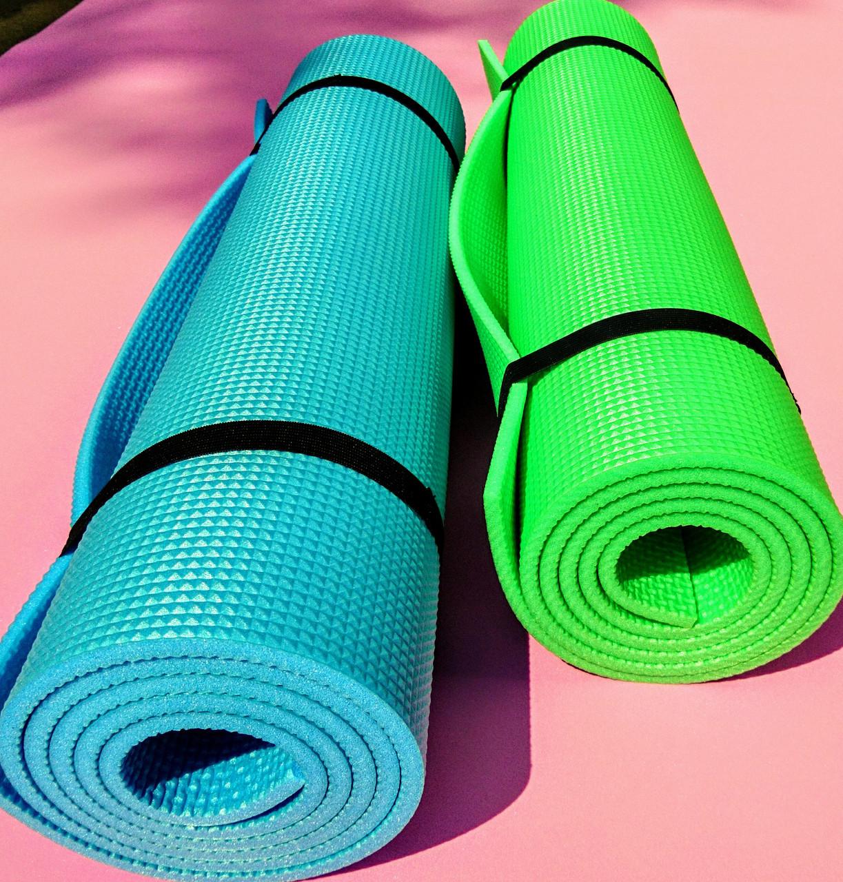 """Каремат, коврик """"Кемпинг 8"""" для занятий спортом, йогой, фитнесом, аэробикой."""