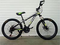 Спортивный велосипед topRider-611 24 дюйма цвет салатовый