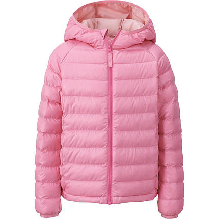 Куртка Uniqlo Girls Light Warm Padded PINK, фото 2