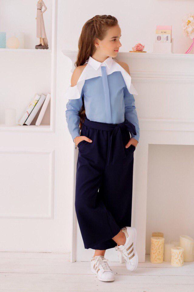 Рубашка LiLove 419-1 140 голубой