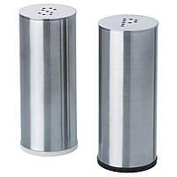 ПЛАТС Солонка и перечница, 2 штуки, нержавеющая сталь 80233675 IKEA, ИКЕА, PLATS