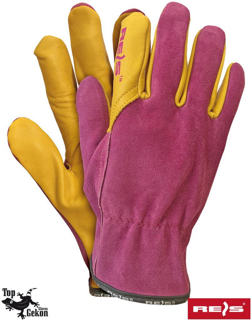 Рукавички шкіряні захисні робочі REIS LAMPART RY