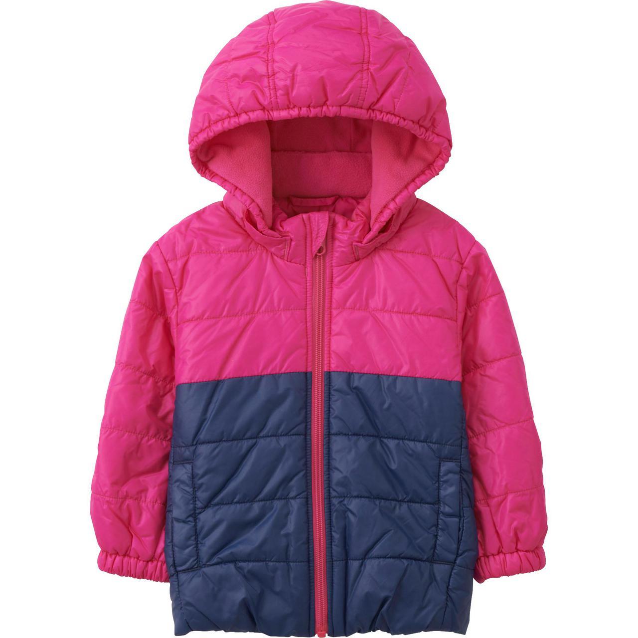 Куртка Uniqlo babies toddler body warm lite long sleeve Pink
