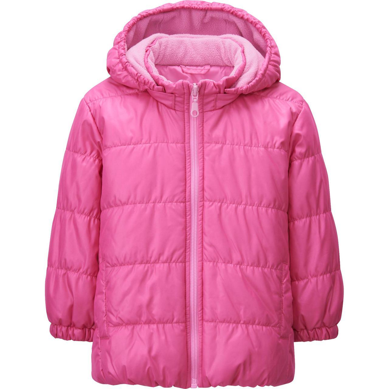 Куртка детская Uniqlo toddler warm lite jacket PINK