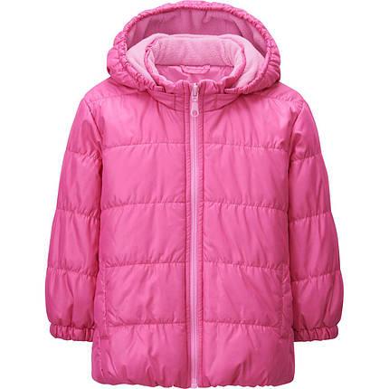 Куртка детская Uniqlo toddler warm lite jacket PINK, фото 2