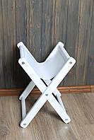 Подставка для сумки, стул раскладной из дерева