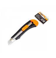 Нож прорезной корпус пластик (усиленный) 18мм, Sigma