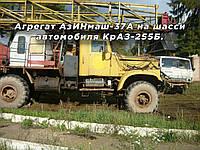Агрегат АзИНмаш-37А на шасси автомобиля КрАЗ-255Б.