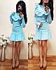 Платье с длинным рукавом декорировано воланами., фото 6