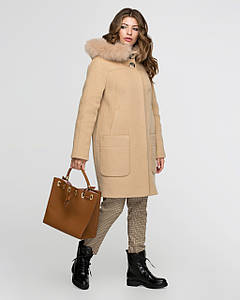 Зимнее женское пальто из шерсти