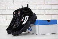 Кроссовки мужские в стиле Fila Disruptor II код товара KD-11415. Черные