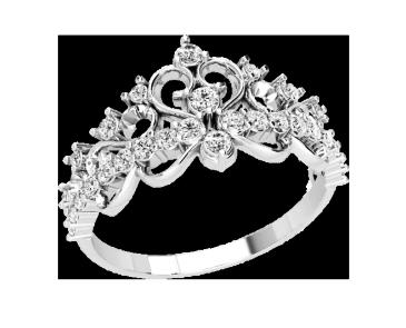 Кольцо  женское серебряное Корона 21175