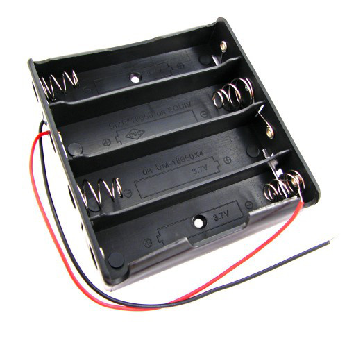 Бокс на 4шт 18650 батареи, 14.8 В, питание Arduino 2000-02503