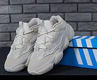 Кроссовки мужские в стиле Adidas Yeezy 500 Blush код товара KD-11599. Белые