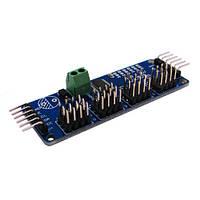16-кан 12-бит ШИМ Серво контроллер PCA9685 Arduino | код: 10.02999