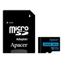 Карта памяти APACER microSDXC 128GB UHS-I U3 V30 +ad (R100MB/s)