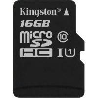 Карта памяти KINGSTON microSDHC 16Gb Canvas Select U1 (R80/W10) no ad