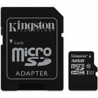 Карта памяти KINGSTON microSDHC 32Gb Canvas Select U1 (R80/W10)+ad