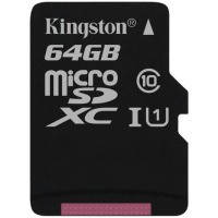 Карта памяти KINGSTON microSDXC 64Gb Canvas Select U1 (R80/W10) no ad