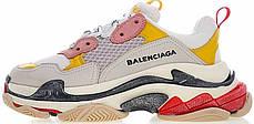 Кроссовки женские Balenciaga Triple S White/Yellow/Beige баленсиага . ТОП Реплика ААА класса., фото 2