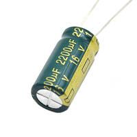 10x Конденсатор електролітичний алюмінієвий 2200мкФ 16В 105С # 10.04314