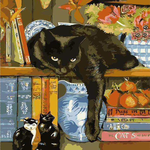 Раскраска по номерам Ленивый кот ArtStory AS0325 40 х 40 см