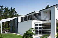 Алюминиевые панорамные гаражные ворота kruzik 5000x2500, фото 1
