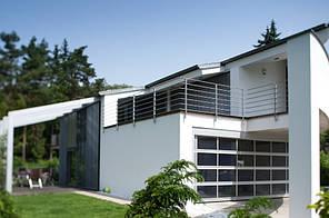 Алюминиевые панорамные гаражные ворота kruzik 5000x2500