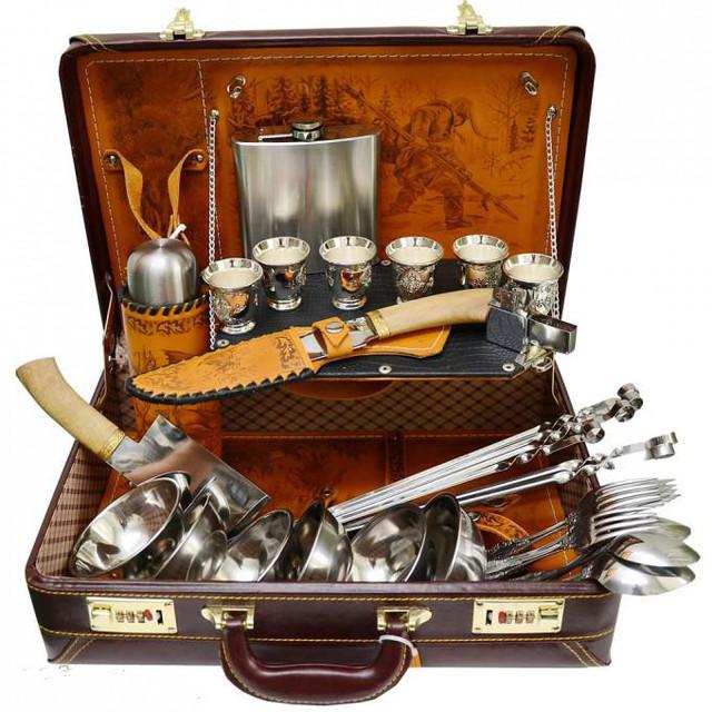 Vip наборы шампуров,рюмок,ножей. Корзины для пикника.Мангалы