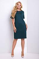 5b6969ef86b1cb3 Женское изумрудное платье большого размера Бриена ТМ Luzana 50-56 размеры