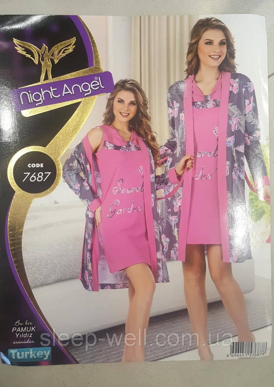 Набор с ночной рубашкой и халатом