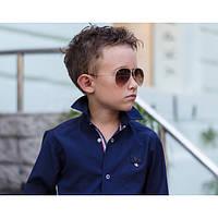 Синяя стильная  рубашка  для мальчика, подростка