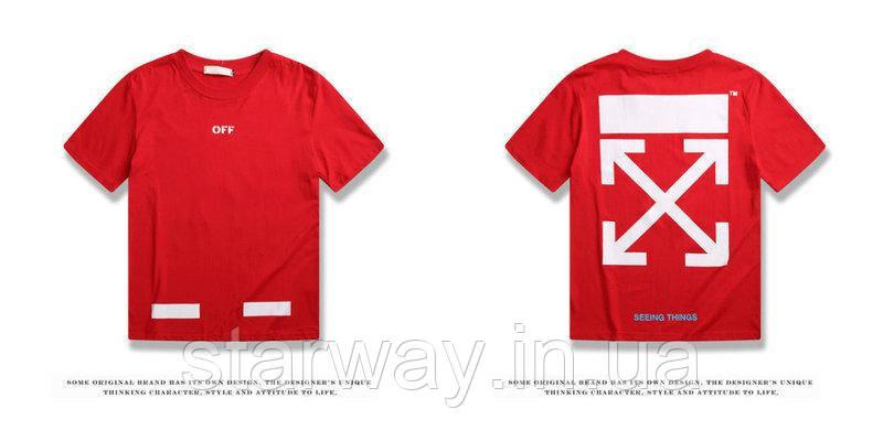 Футболка червона Off White logo   Топ