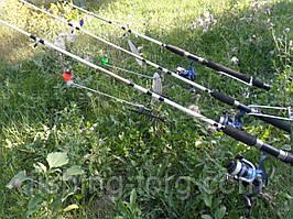 набор для ловли разнообразной рыбы 19 предметов
