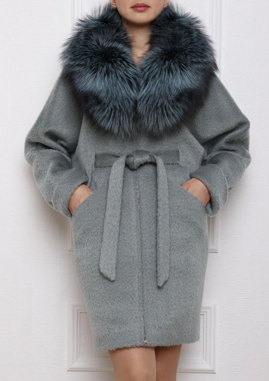 Зимнее пальто из альпаки (натуральный мех) - Интернет-магазин
